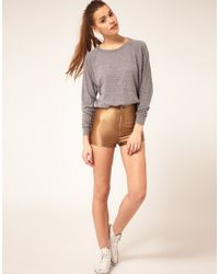 American Apparel - Brown Disco Short - Lyst