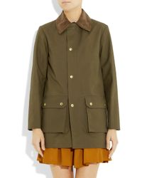 A.P.C. | Green Corduroy-Collar Cotton Jacket | Lyst