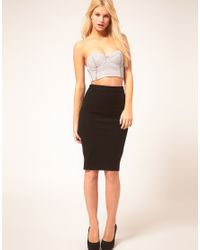 ASOS Collection - Gray Asos Corset Top with Sporty Strap Back - Lyst
