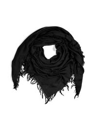 Balmain | Black Embroidered Cotton and Silk-blend Scarf for Men | Lyst