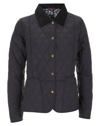 Barbour | Blue Mitsi Liberty Print Summer Liddesdale Quilted Jacket | Lyst