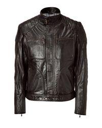 Belstaff | Antique Black Temple Leather Jacket for Men | Lyst