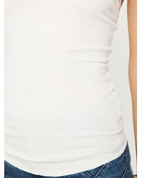 Free People | White Rib and Lace Cami | Lyst