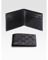 Gucci | Black Small Bi-fold Wallet for Men | Lyst