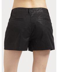 J Brand | Black Lola High-rise Coated Shorts | Lyst