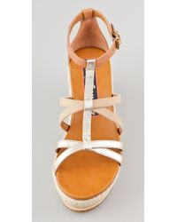 Juicy Couture - Natural Moira Flatform Sandals - Lyst