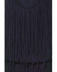 Lanvin | Blue Sleeveless Fringe Dress | Lyst