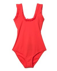 Lanvin | Red Scoop-back Swimsuit | Lyst