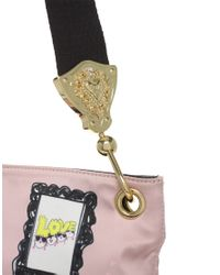 Love Moschino | Pink Satin Print Bag | Lyst