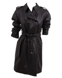 Marc Jacobs - Black Dotted Shrunken Trench Coat - Lyst
