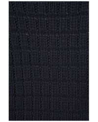 TOPSHOP - Blue Waffle Knitted Jumper By Boutique - Lyst
