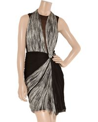 Willow - Gray Ruched Silk-tulle and Silk-chiffon Dress - Lyst