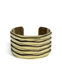 DANNIJO | Metallic Oxidized Brass Plated Talum Cuff | Lyst