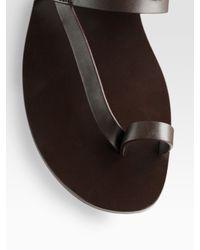 Gucci - Black Toe Strap Sandal for Men - Lyst