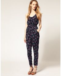 Hilfiger Denim | Blue Floral Jumpsuit | Lyst