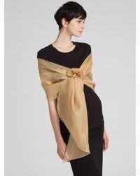 Ilana Wolf | Metallic Silk Organza Wrap | Lyst