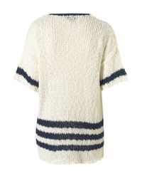 TOPSHOP | White Knitted Chunky Slub Jumper | Lyst