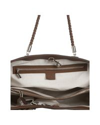Gucci | Brown Leather Bella Braided Handle Tote | Lyst