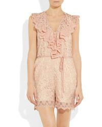 Alice By Temperley | Pink Surya Lace Playsuit | Lyst
