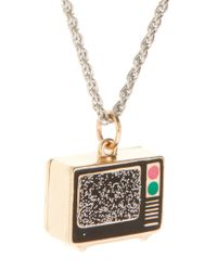 ASOS Collection - Metallic Asos Static Tv Long Pendant Necklace - Lyst
