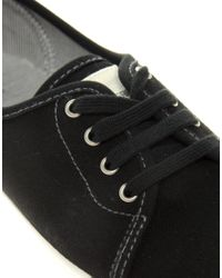 Fred Perry - Black Bell Canvas Plimsolls - Lyst