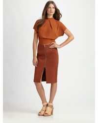 Acne Studios | Brown Harlow Rustic Skirt | Lyst