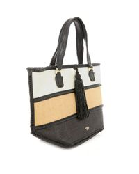 Anya Hindmarch | Multicolor Tri-colour Straw Bag | Lyst