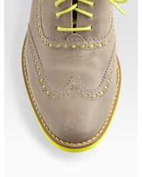 Cole Haan | Gray Alisa Leather Oxfords | Lyst