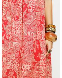 Free People - Red Bandana Maxi Dress - Lyst