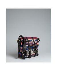 Badgley Mischka | Red Knit Karyn Peruvian Crossbody Bag | Lyst