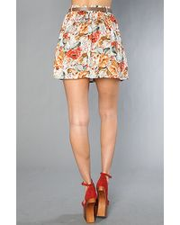 MINKPINK - Multicolor Minkpink Four Seasons Belted Skirt - Lyst