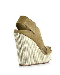 Pedro Garcia | Green Tamesis - Oak Suede High Wedge Sandal | Lyst