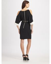 Sachin & Babi | Black Gia Opensleeve Dress with Belt | Lyst