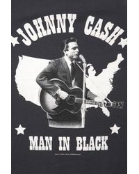 TOPSHOP | Black Johnny Cash Tee By and Finally | Lyst