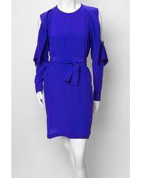 Vionnet - Blue Shoulder Cut-out Dress - Lyst