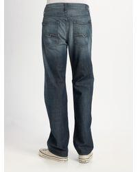 7 For All Mankind | Blue Austyn Simon Lake Straight-leg Jeans for Men | Lyst