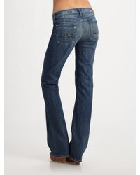 7 For All Mankind | Black Washed Flared Jeans | Lyst