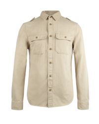 AllSaints - Natural Convoy L/s Shirt for Men - Lyst