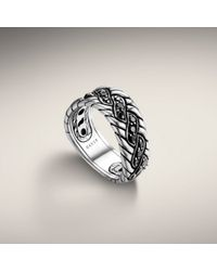 John Hardy | Black Twist Band Ring | Lyst