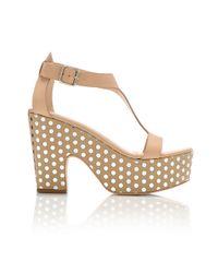 Loeffler Randall | Natural Chloe Platform Sandal | Lyst