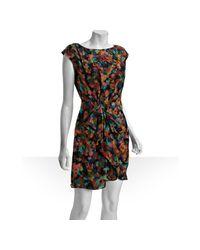Shoshanna | Brown Silk La Dolce Vita Pleated Front Dress | Lyst