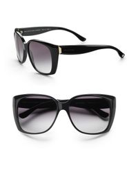 Balenciaga | Black Oversized Cat Eye Sunglasses | Lyst