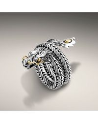 John Hardy - Metallic Dragon Coil Ring - Lyst