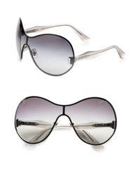 Miu Miu   Metallic Shield Sunglasses   Lyst