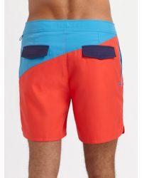 Original Penguin | Blue Volley Swim Shorts/two-tone for Men | Lyst