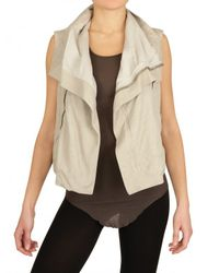 Rick Owens | White Biker Blistered Vest- Leather Jacket | Lyst
