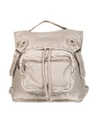 TOPSHOP - Gray Grey Large Washed Backpack - Lyst