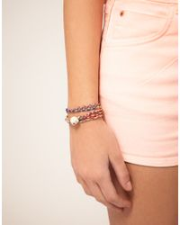 ASOS Collection - Metallic Asos Retro Skulls Friendship Bracelet Pack - Lyst