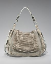 Rebecca Minkoff | Gray Spikes Moonstruck Bag | Lyst