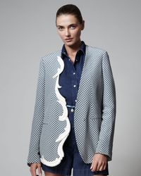 Stella McCartney | Blue Oriental Print Jacket | Lyst